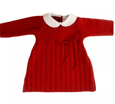 Festive Red knitted Dress