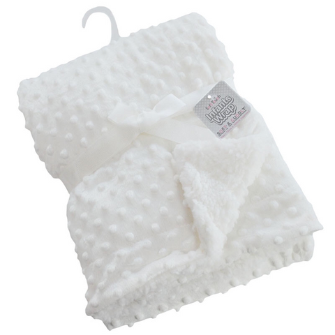 Personalised White Bubbles Blanket