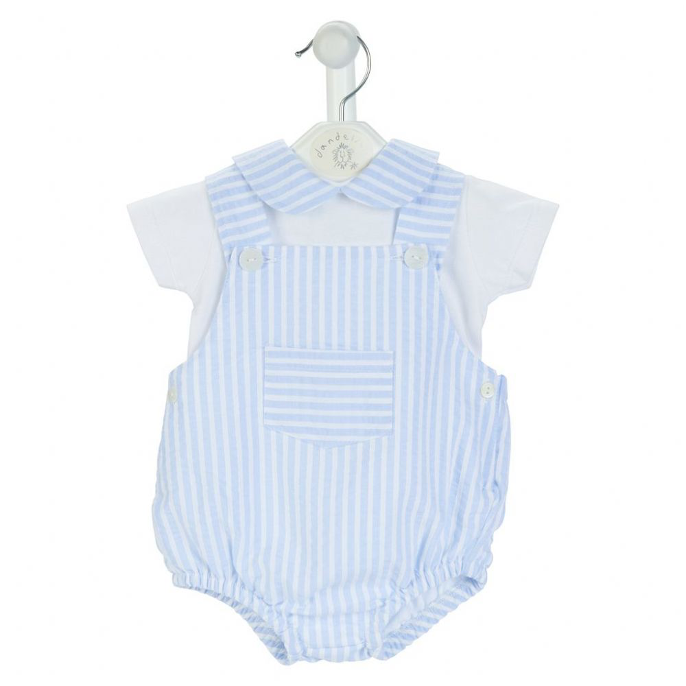 Stripe Pique Boys Shorts & T-Shirt