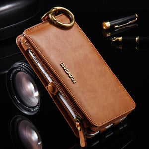 Classic Retro Stand Wallet Case for iPhone