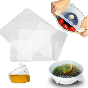 Reusable Silicone Food Wrap (Set of 4)