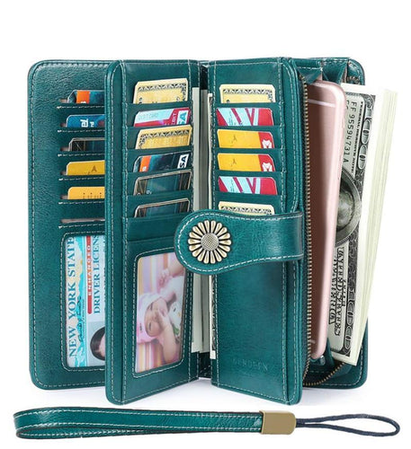 Women's Wallets, Large Capacity RFID Protection