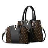 2 PCS Women Bags Set Leather Handbag - onekfashion