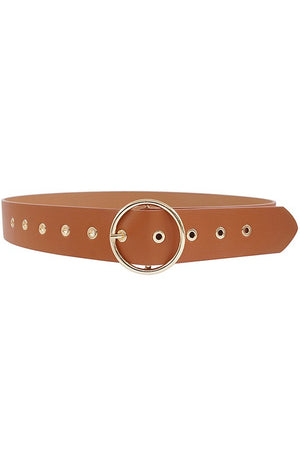 Circle Ring Buckle Belt