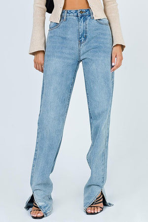 Rehab - High Rise Ankle Slit Jeans