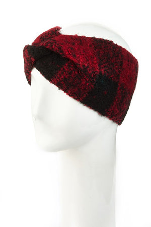 Plaid Winter Headwrap