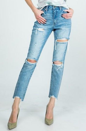 Special A - Distressed Mom Jeans