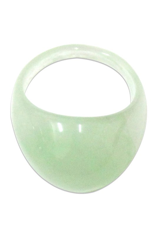 Green Dome Resin Ring