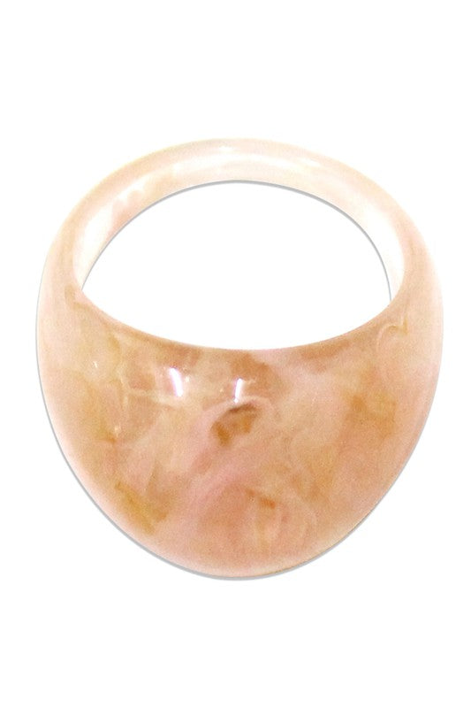 Pink Dome Resin Ring