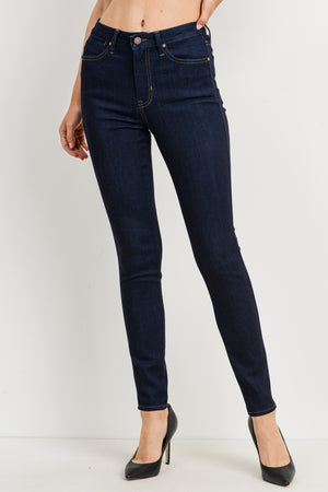 Just Black-High Rise Skinny