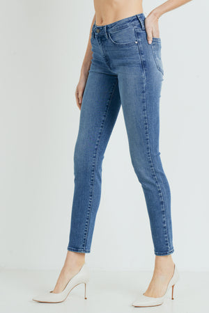 Just Black-Mid Rise Skinny Jean