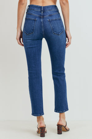 Just Black - High Rise Straight Leg Jeans