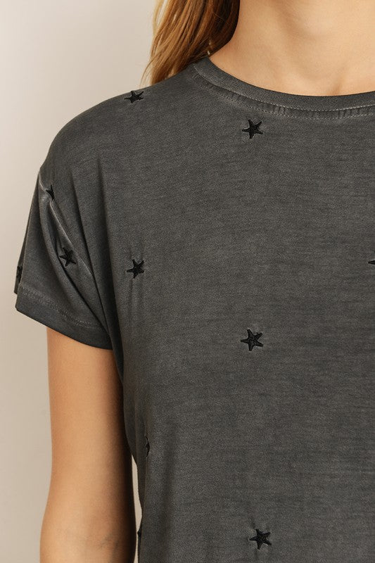 Embroidered Star Tee