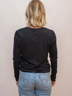 Twenty5A - Long Sleeve V-Neck Tee