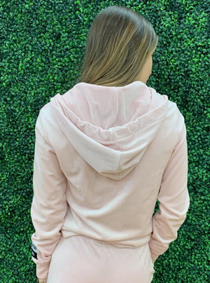 Juicy Couture - Long Sleeved Cropped Velour Hoodie