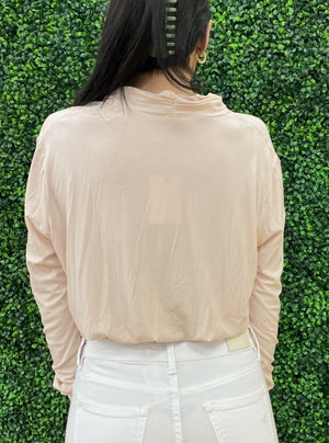 Ribbed Surplus Wrap Top