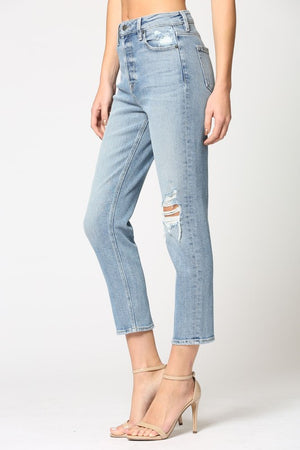 Hidden - Distressed Mom Jean