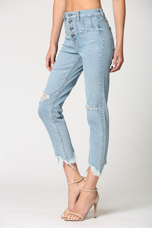 Hidden Jeans-Yoke Detailed Jean