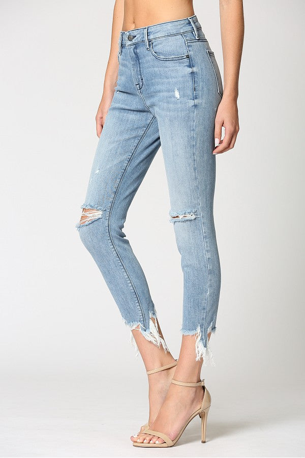 Hidden Jeans-Distressed Skinny Jeans