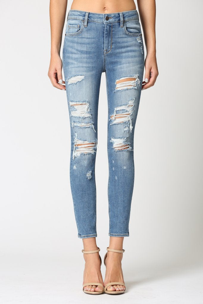 Hidden - Distressed Skinny Jean