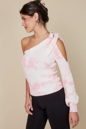 Tie Dye One Shoulder Sweater Top