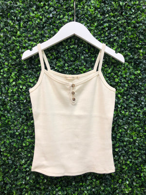 BUTTON RIBBED TANK