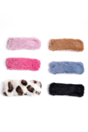 6-Piece Fuzzy Clip Set