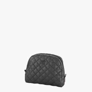 Quilted Cosmetic Case - Graphite