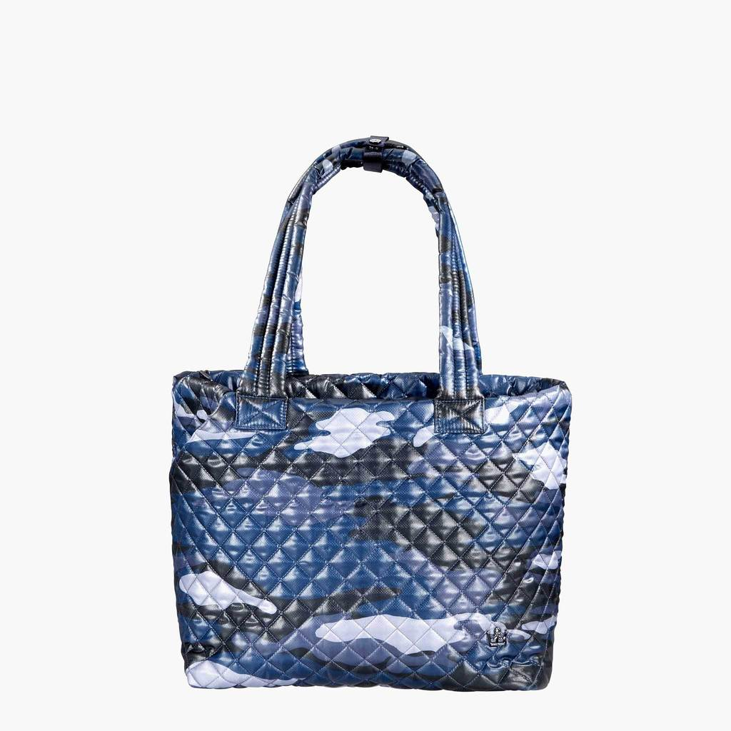 BLUE CAMO QUILTED TOTE