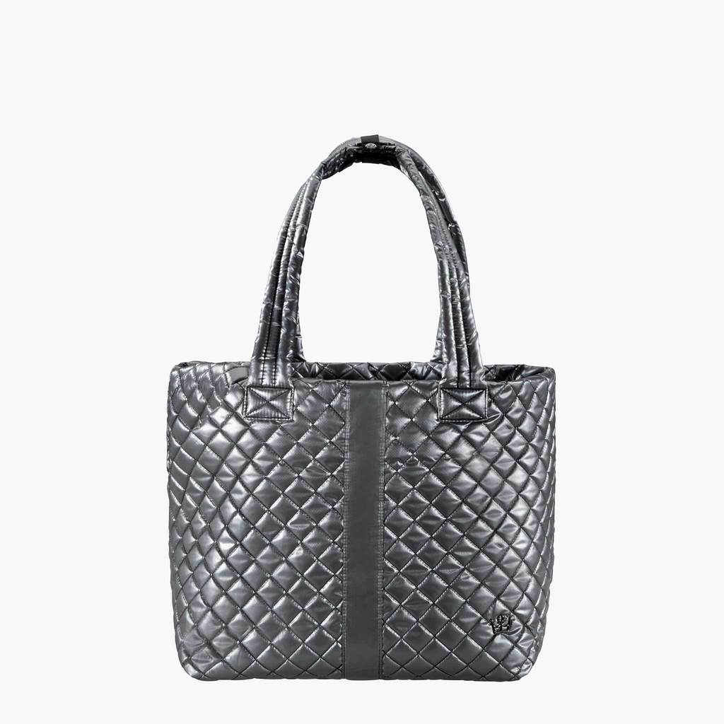 Quilted Tote Bag - Gunmetal