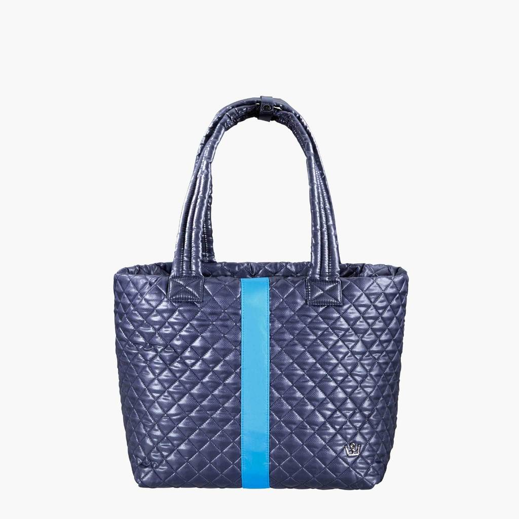 NAVY QUILTED TOTE