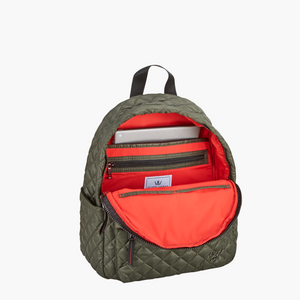 MINI GREEN QUILTED BACKPACK