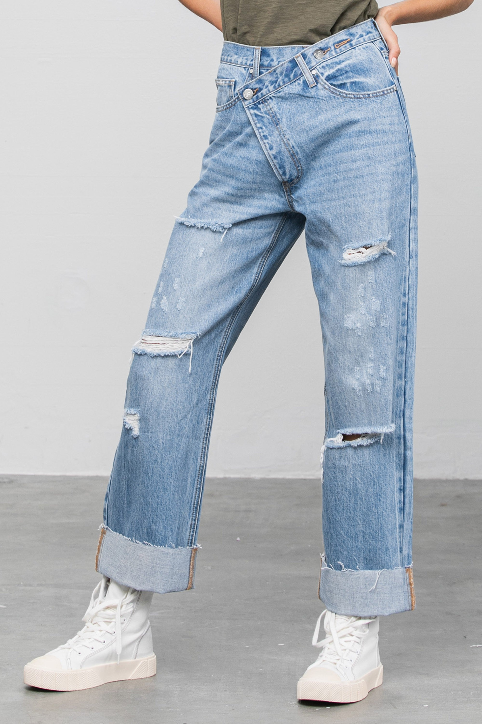 Denim Lounge - Crossover Straight Leg Jeans