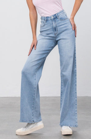 Denim Lounge - High Rise Wide Leg Jeans