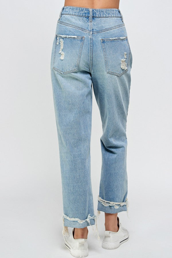 Signature 8 - High Rise Distressed Jeans