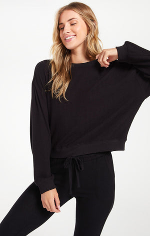 Long Sleeve Marled Pullover
