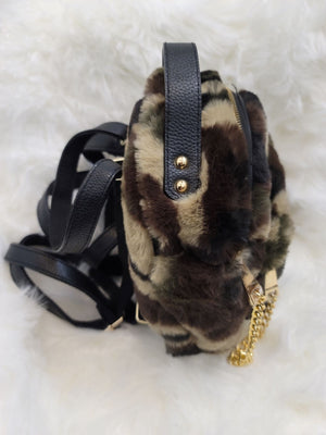 Mini Fuzzy Backpack - Camo