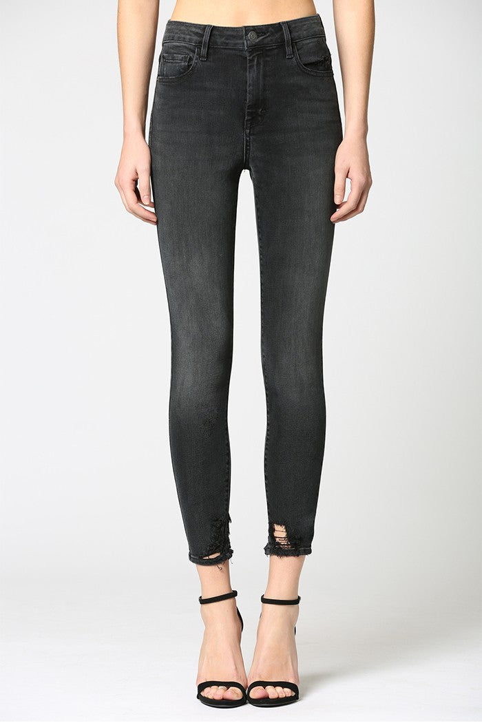 Hidden - Taylor High Rise Skinny Button Jeans