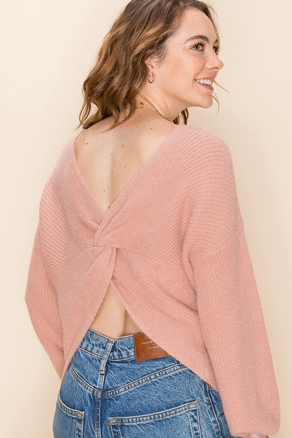 L/S KNOTTED SWEATER