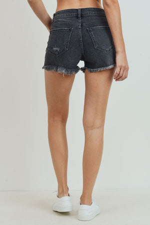 Just Black - Denim Button Fly Short