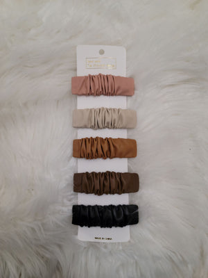 Leather Clip Set