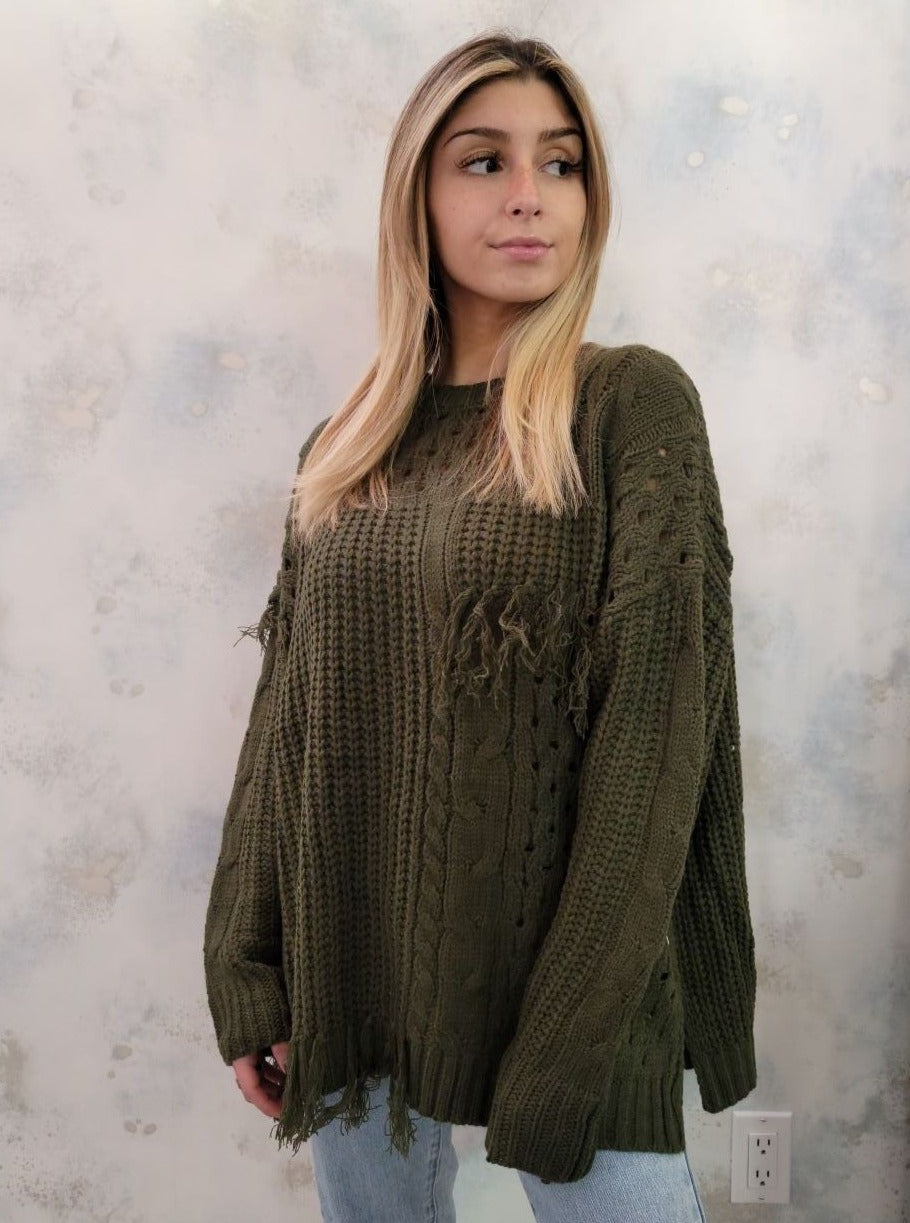 Oversized Tassel Sweater