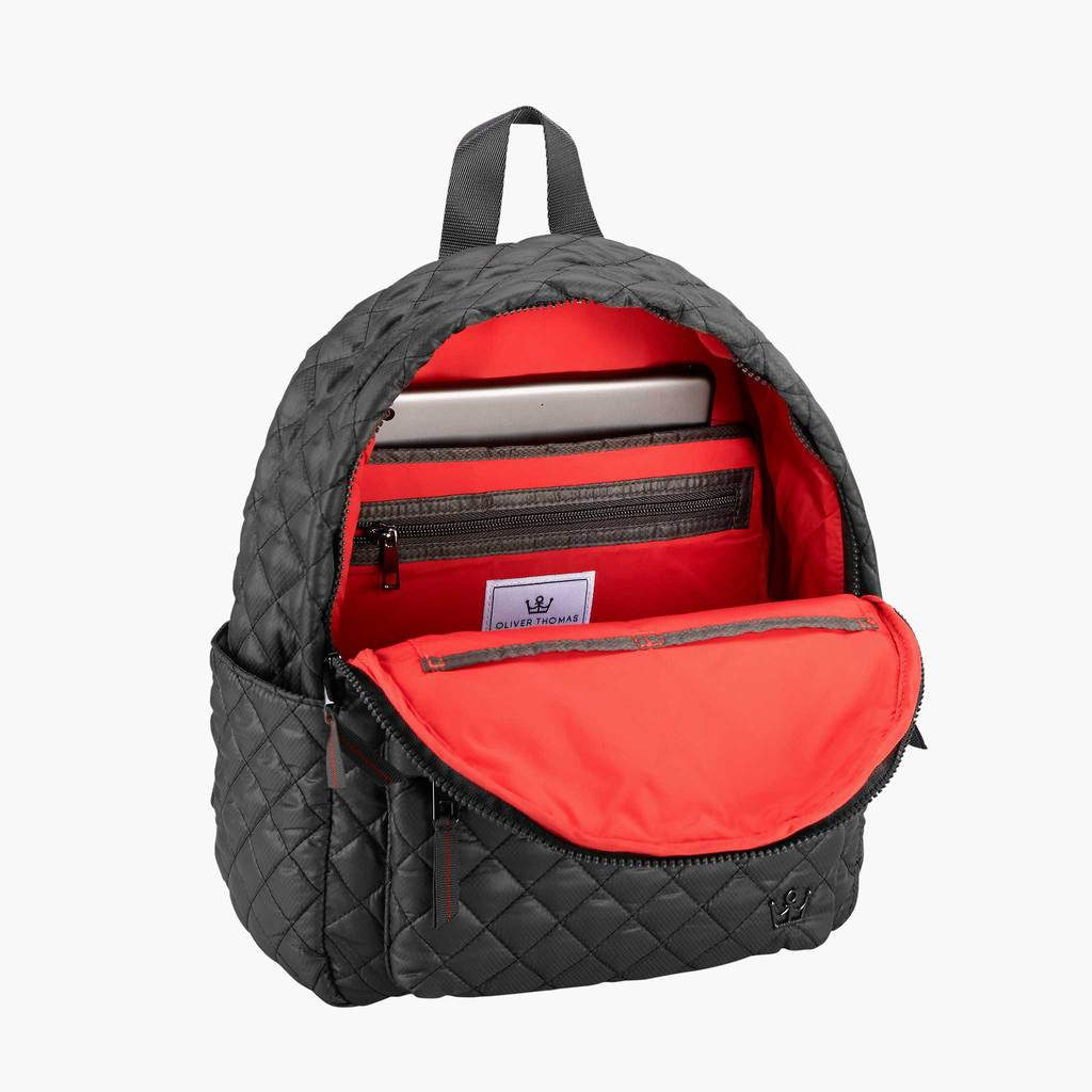 MINI GRAPHITE QUILTED BACKPACK