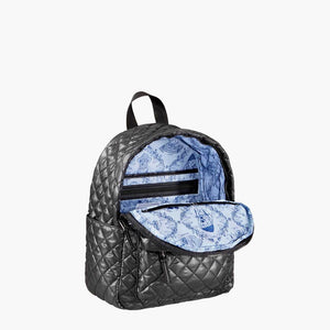 MINI BLACK QUILTED BACKPACK