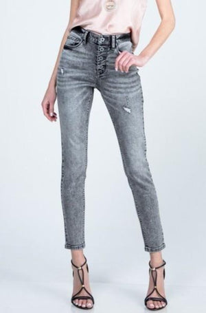 Special A - Skinny Jeans w/ Button Fly