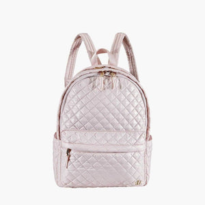 PINK QUILTED BACKPACK