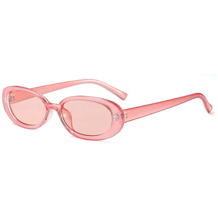 PINK OVAL SUNGLASSES
