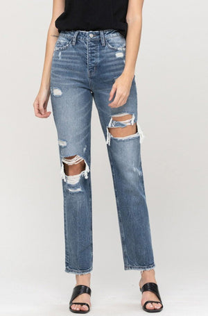 Flying Monkey - High Rise Straight Leg Jeans