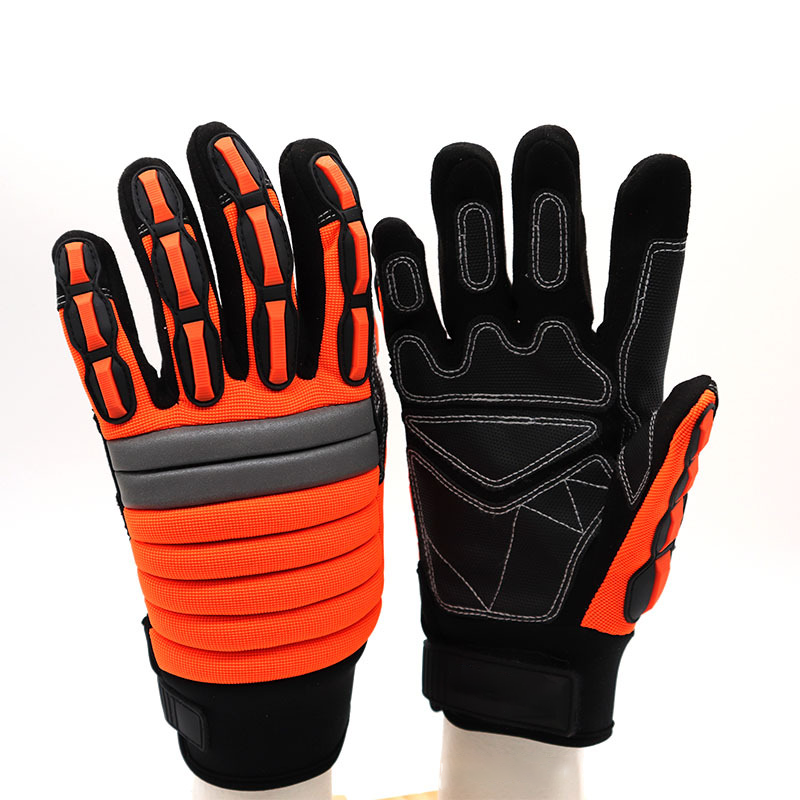 Reflective hand protection gloves