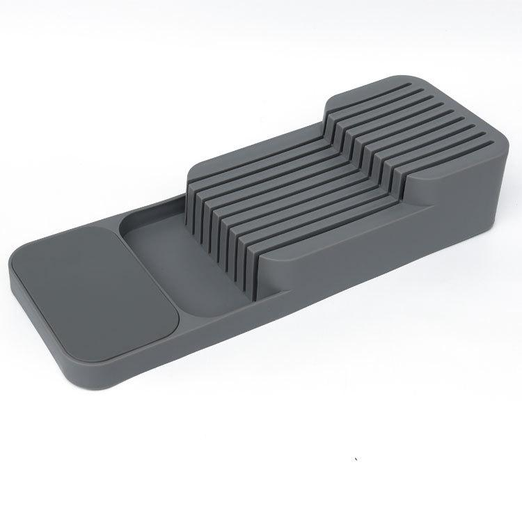 Knife storage box, knife separation and sorting rack
